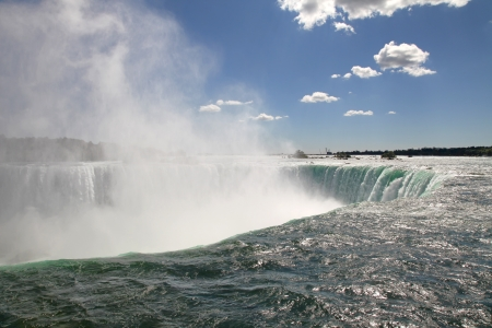 The view of the horse shoe waterfall. Niagara Falls, Ontario photo