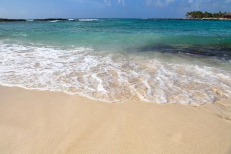 riviera maya: Wave on the beach sand, Riviera Maya, Mexico