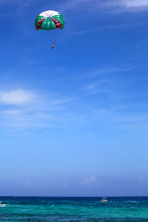 Parasailing on the beach, Riviera Maya