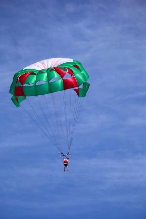 parasailing: Parasailing over the sea in Riviera Maya