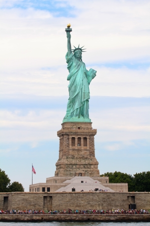 The view of the Liberty Statue from the Hudson River, New York photo