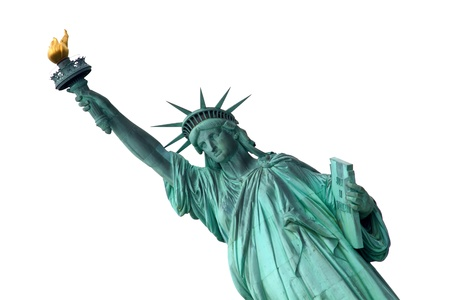 statue of liberty: Liberty Statue isolated on white background