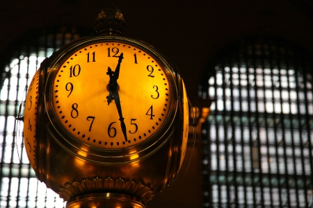 The clock at New York Grand Terminal