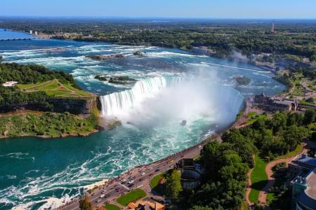 The view of the Horseshoe Fall, Niagara Falls, Ontario, Canada