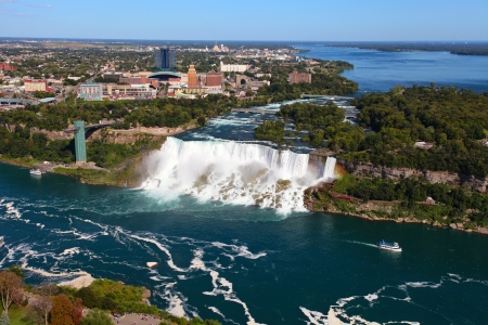 The view of the Falls. Niagara Falls, Ontario, Canada photo