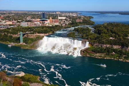 The view of the Falls. Niagara Falls, Ontario, Canada