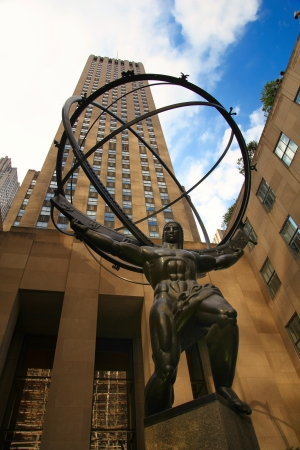 Statue of Atlas Holding The Heavens, Manhattan, New York