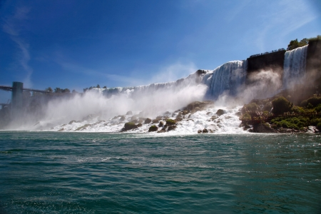 The view of Niagara Falls from the boat. Ontario photo