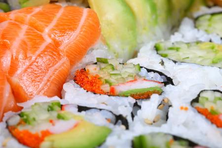 Sushi, shallow focus