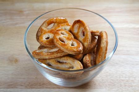 Puff pastrey cookies, shallow focus Stock Photo
