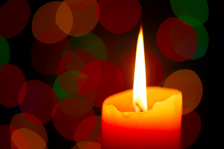 Christmas candle, shallow focus Stock Photo