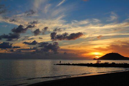 Sunset at Playa Sevilla Beach, Santiago de Cuba, Cuba, shallow focus