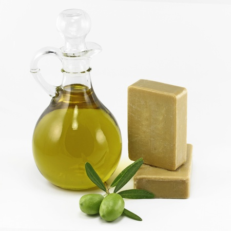 Olive products , virgin olive oil and soap photo