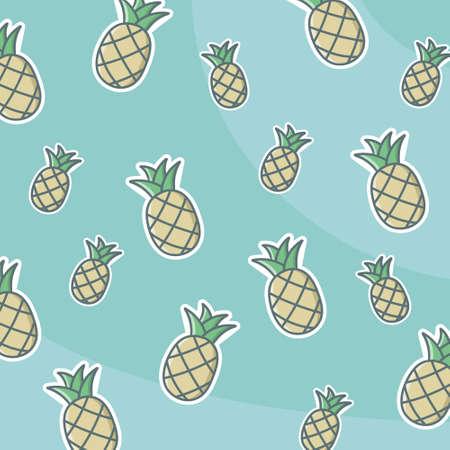 Pattern Pineapple Fruit Tropical Summer