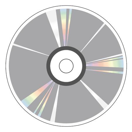 CD DVD icon vector