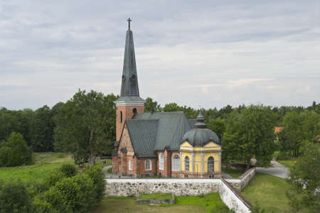Ängsö,kyrka, Angso church in Sweden