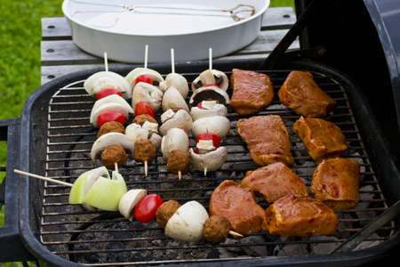Food on the barbequegrill