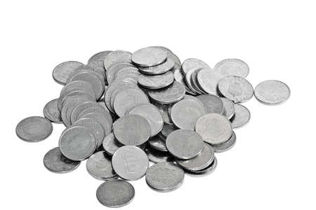 Swedish coins isolated on white Stock Photo