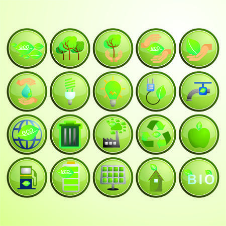scrapyard: 20 Set Design Of Modern flat and colorful ECO icons