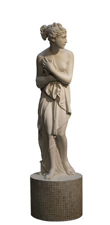 Sculpture of the girl, it is isolated  photo