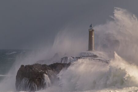 Mouro lighthouse in Santander (Cantabria, Spain).