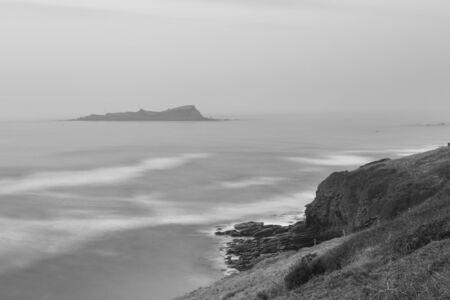 The island of izaro in the Mundaka estuary. Urdaibai Biosphere Reserve (Bizkaia).