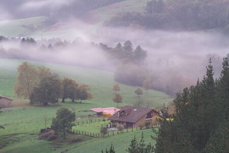 Larrabetzu is a beautiful village located in the Txorierri valley, in the heart of Bizkaia (Basque Country). Stock Photo