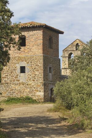 Potes, Cantabria/Spain; Aug. 03, 2015. The hermitage of Santa Catalina in Potes