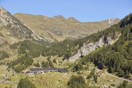 Llanos del hospital, Huesca/Spain; Aug. 21, 2017. Place called Llanos del Hospital belonging to the municipality of Benasque in the heart of the Pyrenees.