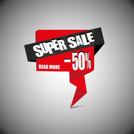 50  off: Sale banner template. 50% off. Vector illustration.