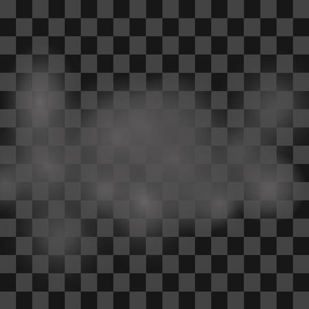 Mist of rook die transparant speciaal effect. White vector bewolking, nevel of smog achtergrond. vector illustratie