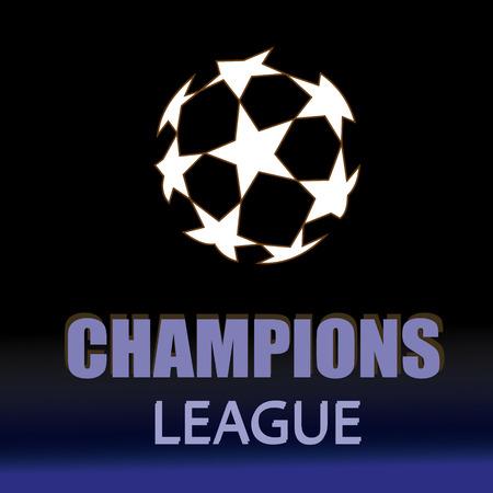 Champion sports league logo, emblem, badge. Illustration