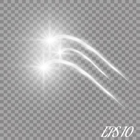 Comet flying on a transparent background.