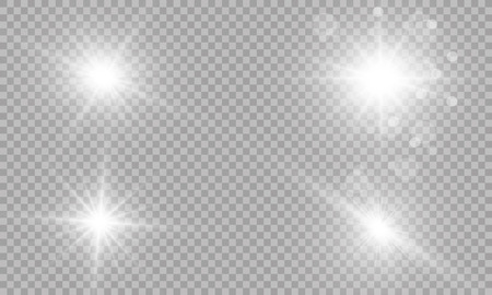 Set of Vector glowing light effect. Stockfoto - 102146204