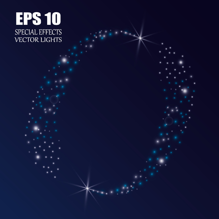 Vector sparkling falling star. Stardust trail. Banque d'images - 102929126