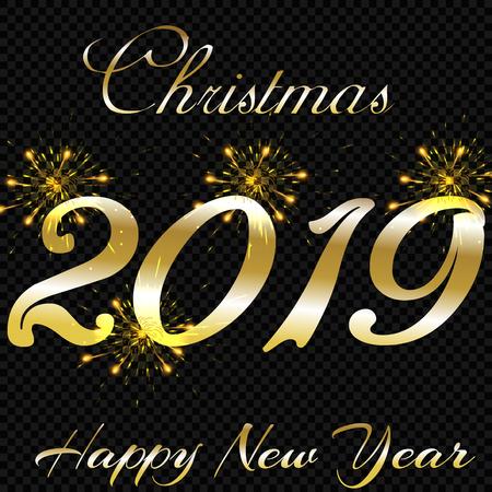 Festive patterned fireworks bursting in various forms, sparkling pictograms set against a black background Abstract. New Year and birthdays. Vector illustration Ilustração