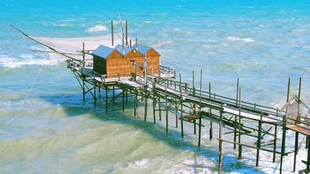 slits: Slits on the Adriatic sea, trabucco in Termoli