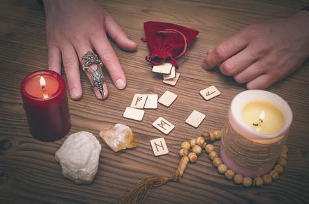 Runestone reading. Scandinavian runes divination. Future reading.