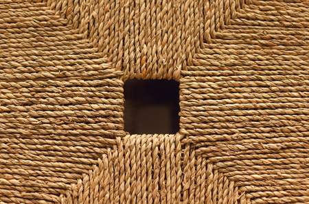 Woven box lid abstract texture background. Stock Photo