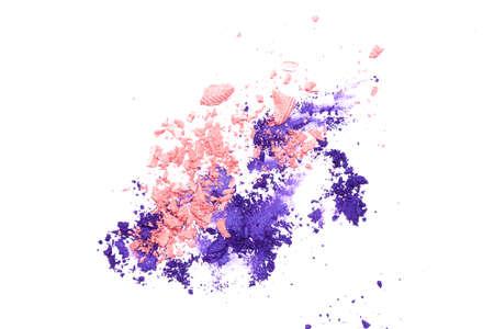 Eye shadows powder isolated on the white background.
