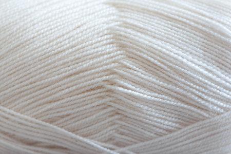 White woolen threads texture background. 写真素材