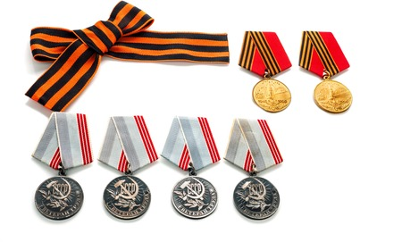 orden: Concept  May 9 St.Georges Ribbon  medal  award blade old photos. Victory Day. May 9
