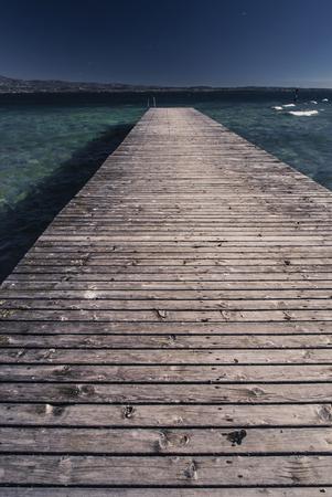 The bridge from a tree on Lake Garda