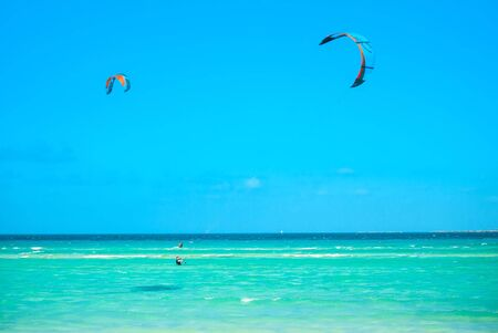 Cayo Guillermo , Cuba - 25 March 2012 : Athletes surfer involved