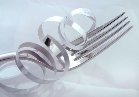 A Holiday Diet - An empty fork near holiday decorations Stock Photo - 653973