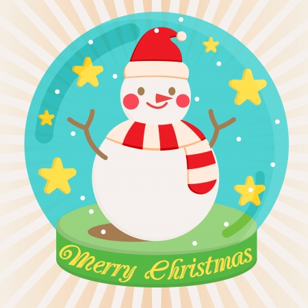 snowman  vector  card christmas xmas Vector