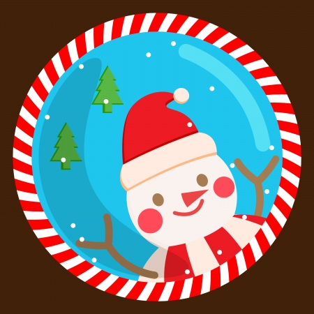 snowman, vector, card, christmas , xmas Vector
