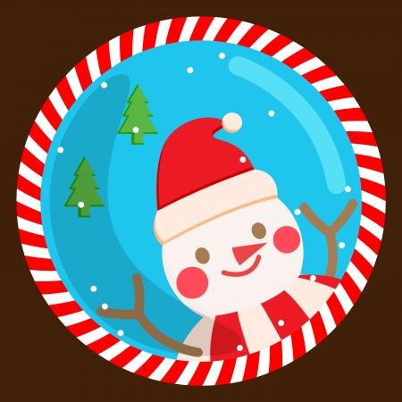 x mas parties: snowman, vector, card, christmas , xmas Illustration