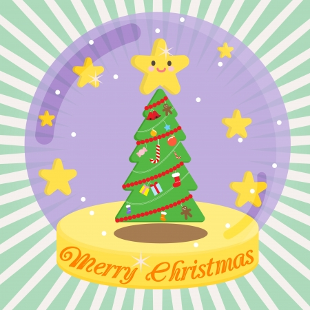 card, christmas, december, xmas, celebration, tree Vector