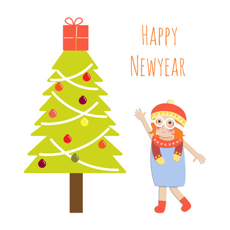 christmas, tree, decoration, xmas gilf Vector
